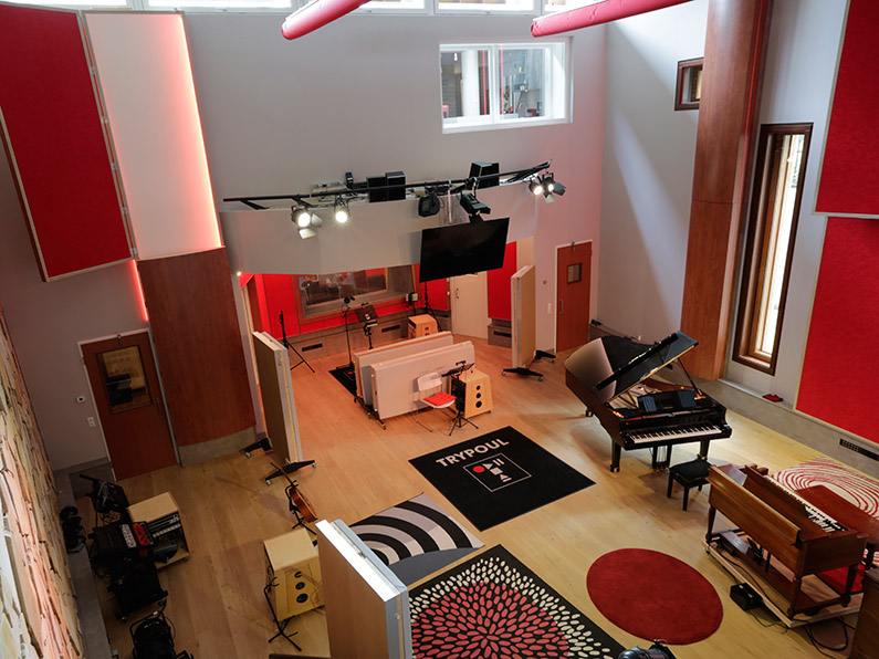 The Main Hall at Trypoul Recording Studios