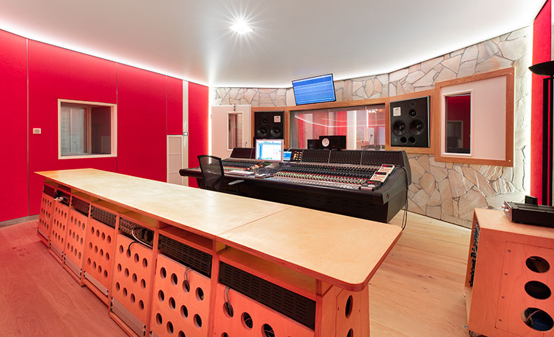 The Neve room at Trypoul Recording Studios