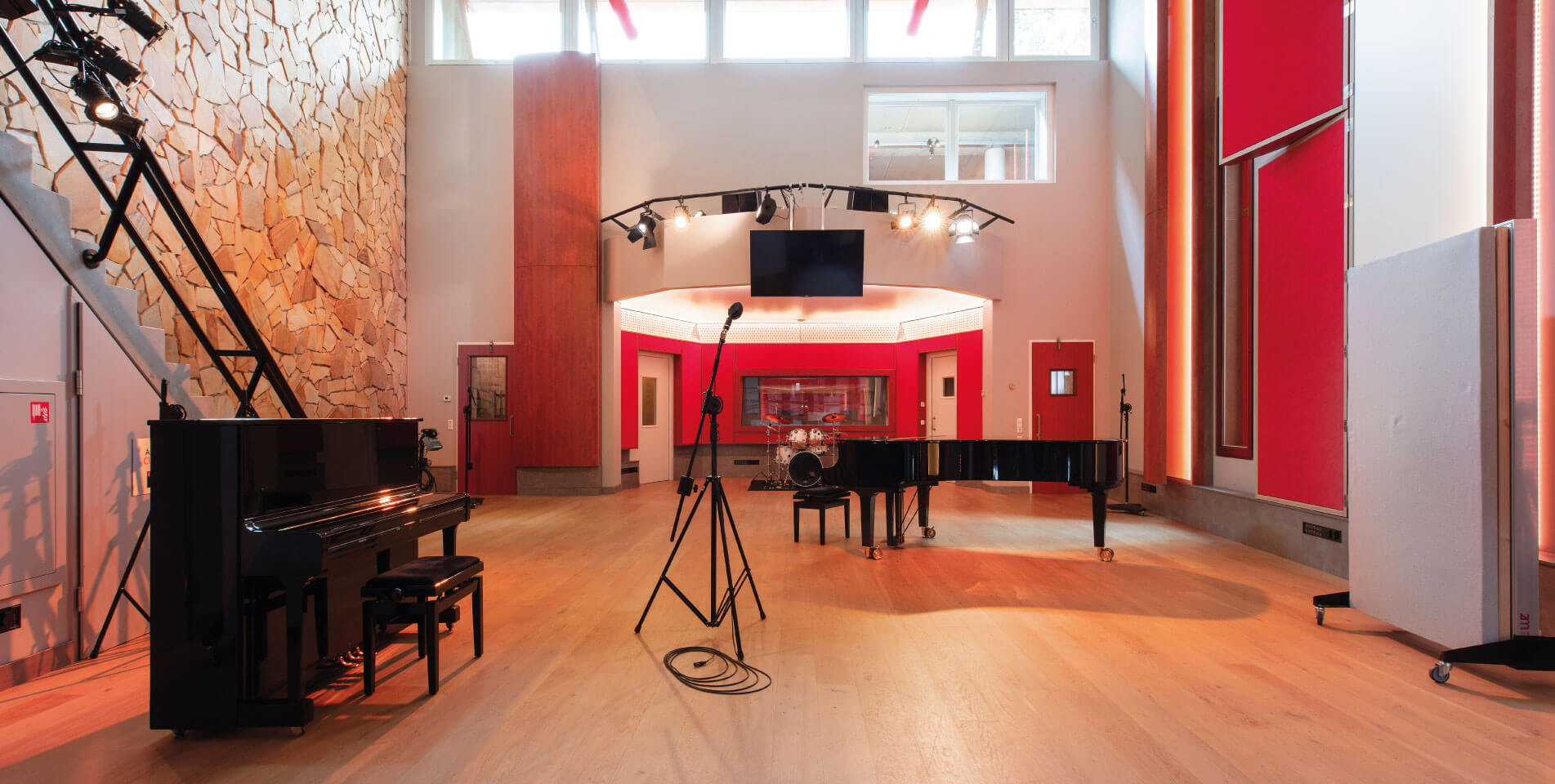 Main Hall at Trypoul Recording Studios